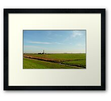 The old pumping station in the polder Framed Print