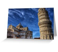 Leaning Tower of Pisa - again Greeting Card