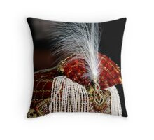 Groom Wedding Sehra Throw Pillow