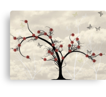 * butterfly tree * Canvas Print