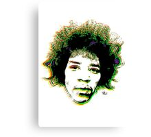 Psychedelic guitar god Canvas Print