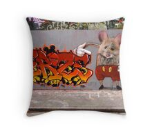 I am Mighty Mouse Throw Pillow