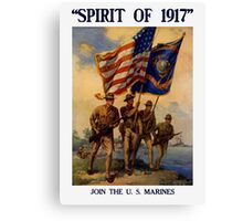 Join The US Marines -- Spirit Of 1917 Canvas Print