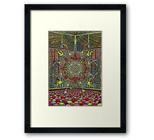 The Fantastic Bubble Machine, Ink & Pencil Framed Print
