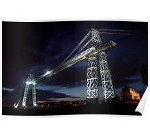 Newport Transporter Bridge nightlight Poster