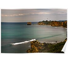 """Split Point Lone Surfer""Airey's Inlet,Great Ocean Road,Australia. Poster"