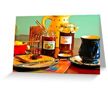 Home-Made Jam & Toast with a Cappuccino Greeting Card