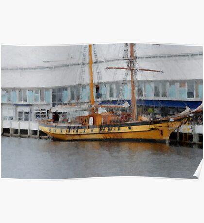 Windward Bound, sailing ship, Hobart Poster