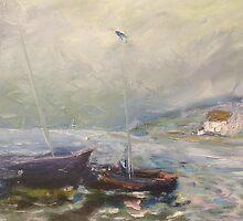 Sheltering from oncoming storm by Raymond  Hedley