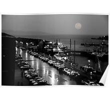 Full moon,  Hobart Poster