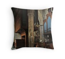 Minster Organ Throw Pillow