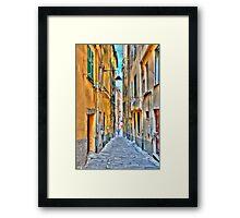 Alley Genoa Framed Print