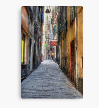 Alley Genoa Canvas Print