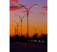 Street Lights at TAFE carpark02 -  Joondalup Western Australia  Photographic Print
