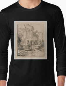 Drawing - Christus ten grave gedragen, Rembrandt Harmensz. van Rijn, 1643 - 1647  Long Sleeve T-Shirt