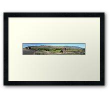 Haynes Ranch...a Gigapan panorama Framed Print