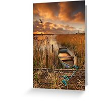 Old Boat, Strumpshaw Fen, Norfolk Greeting Card