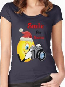 Smile for Santa Women's Fitted Scoop T-Shirt