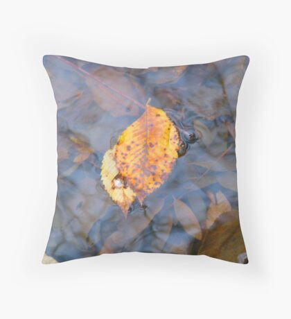 after their fall he sheltered her Throw Pillow