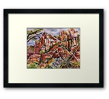 Schnebly Hill - Sedona AZ Framed Print
