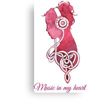- Music in my heart - Canvas Print