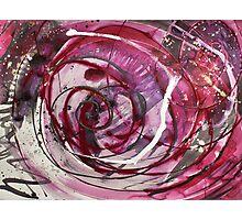 Spirals of Magenta and Black Photographic Print