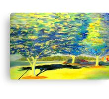 Trees of Blue and Yellow Canvas Print