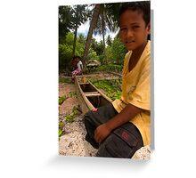 Pakin Islander - Pohnpei, Micronesia Greeting Card