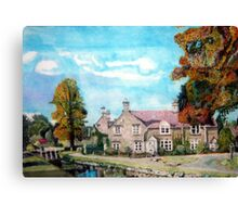 Lower Slaughter Gloucestershire The wind rush Canvas Print