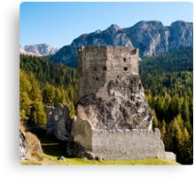 Castello Buchenstein di Andraz, Dolomiti, Italy Canvas Print