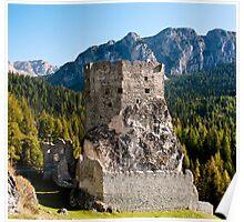 Castello Buchenstein di Andraz, Dolomiti, Italy Poster