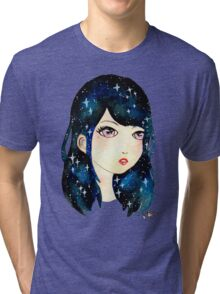 Starry-eyed in space  Tri-blend T-Shirt