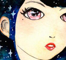 Starry-eyed in space  Sticker