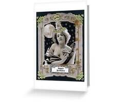 Vintage Birthday Card Greeting Card