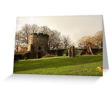 Usk Castle Greeting Card