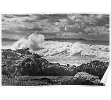 Thundering surf near Kaikoura Poster