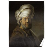 Painting - Man in Oriental Dress, Rembrandt Harmensz. van Rijn, 1635  Poster