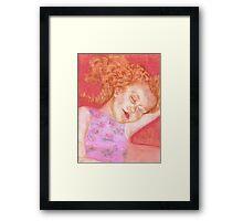 Sleeping Sam Framed Print