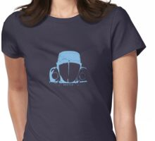 VW Beetle -  Light Blue Womens Fitted T-Shirt