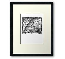 Flammarion Engraving Transparent Framed Print