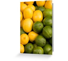 Lemons and Limes Greeting Card