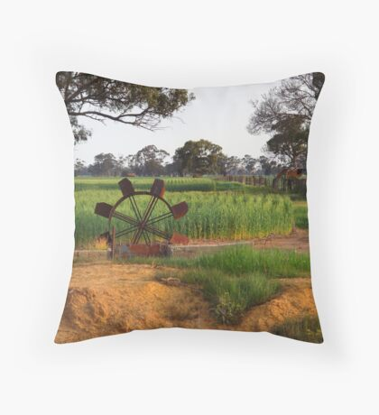 Dethridge Wheel Throw Pillow