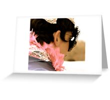 Layer upon layer, i'm safe behind the mask Greeting Card