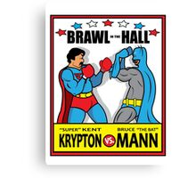 BRAWL IN THE HALL Canvas Print