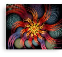 Crackled Spiral Canvas Print