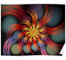 Crackled Spiral Poster