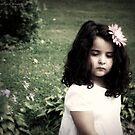 .a girl in the garden. by Angel Warda