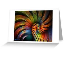 Rooster Tail Spiral Greeting Card