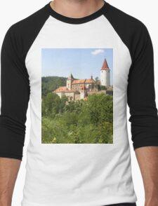 a vast Czech Republic landscape Men's Baseball ¾ T-Shirt