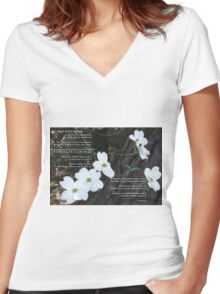 The legend of the dogwood Women's Fitted V-Neck T-Shirt